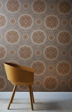 Timour by Arthouse - Copper - Wallpaper : Wallpaper Direct Vintage Inspired Decor, Wallpaper, Copper Accents, Copper Wallpaper, Interior Inspiration, Grey Copper Wallpaper, Pattern Wallpaper, Glitter Wallpaper, Home Art