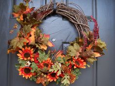 Easy Fall Wreath ~ Creative Green Living