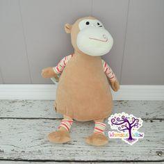 Monkey Pastel Stuffed Animal Cubbie