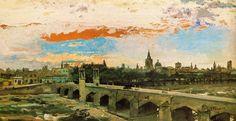 1883. Obra de Ignacio Pinazo  Valencia ,Puente del Real