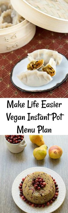 Need help with meal planning? Check out this vegan Instant Pot… Need help with meal planning? Check out this vegan Instant Pot menu plan! Delicious Vegan Recipes, Easy Healthy Recipes, Vegetarian Recipes, Amazing Recipes, Pressure Cooker Recipes, Slow Cooker, Pressure Cooking, Cheap Meals, Easy Meals