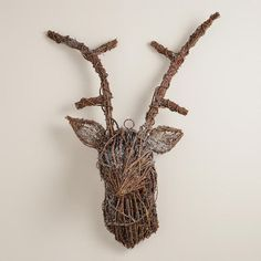 One of my favorite discoveries at WorldMarket.com: Twig Stag Head