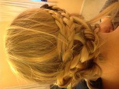 Messy braid bun :-)