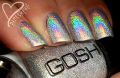 Holographic nail polish by gosh.