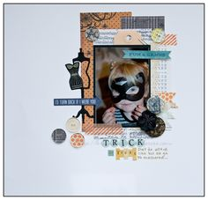 Halloween layout made with the #epiphanycrafts Button Studio Tool Round 20. www.epiphanycrafts.com #echopark #halloween