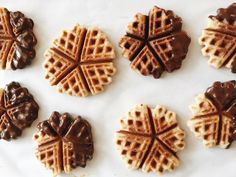 Nordic Waffle Cookies dipped in chocolate - My Nordic Kitchen