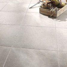 Carrelage sol et mur gris clair effet pierre Michigan l.34 x L.34 cm