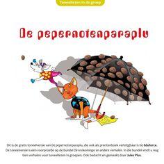 Dit is de gratis toneelversie van De pepernotenparaplu, die ook als prentenboek verkrijgbaar is bij Eduforce. De toneelversie is een voorproefje op de bundel De krokomingo en andere verhalen. In die bundel vindt u nog tien verhalen voor toneellezen in groepen. Ook bedacht en gemaakt door Jules Plus.Dit toneelverhaal is speciaal ontwikkeld voor het unieke Sinterklaasfeest. Op de laatste 2 pagina's is de handleiding. Saint Nicholas, Kids Learning, Alice In Wonderland, Literature, Crafts For Kids, December, School, Drama, Language