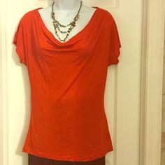 HM red blouse#7 Cows neck red blouse,loose fit.soft material. H&M Tops Blouses