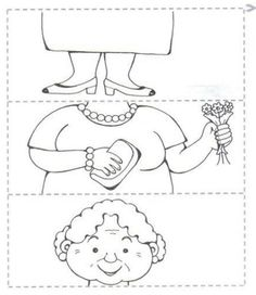 Crafts,Actvities and Worksheets for Preschool,Toddler and Kindergarten.Lots of worksheets and coloring pages. Preschool Puzzles, Preschool Worksheets, Art For Kids, Crafts For Kids, Grandparents Day Crafts, Puzzle Crafts, Family Theme, Coloring Pages For Kids, Pre School