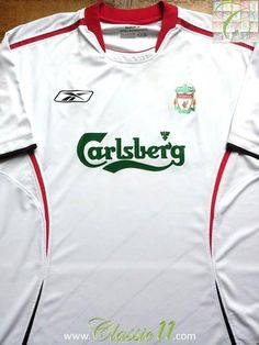 Relive Liverpool's 2005/2006 season with this vintage Reebok away football shirt.