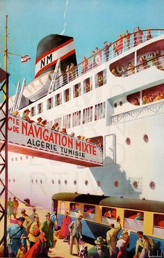 Maurice Dard Cie Navigation Mixte Algerie Tunisie Le Kairouan 61X100 Printed In France | Flickr - Photo Sharing!