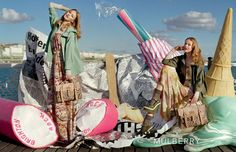 Frida Gustavsson and Lindsey Wixson, Val Garland by Tim Walker for Mulberry S/S 12