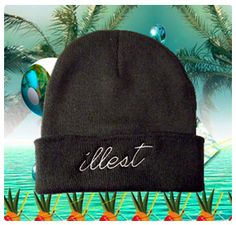 illest: black beanie, white embroidery    hypenosis.com  http://facebook.com/hypenosis