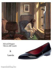 Painting by Edward Hopper, shoes by Lanvin