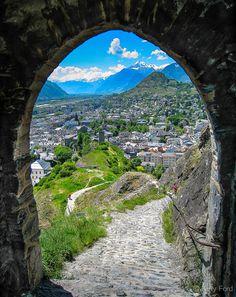 Gateway to Sion, Switzerland