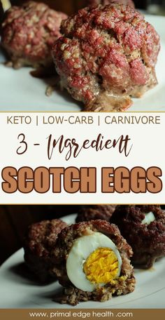 Easy Keto Scotch Eggs (No Pork) Crispy, greasy Keto Scotch Eggs are loaded with protein. Serve hot, pack into a picnic, or store in the fridge to use during the week. Easy Keto Scotch Eggs (No Pork) Egg Diet Plan, Ketogenic Diet Meal Plan, Diet Meal Plans, Ketogenic Recipes, Diet Recipes, Healthy Recipes, Keto Meal, Easy Recipes, Diet Menu
