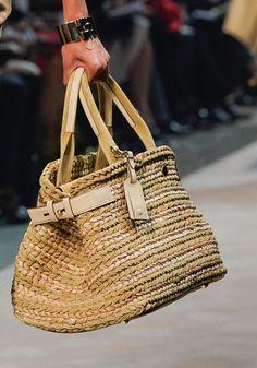 Woven Raffia Bag Trend for Spring Summer 2013.  Loewe Spring Summer 2013.   #bag   #trends