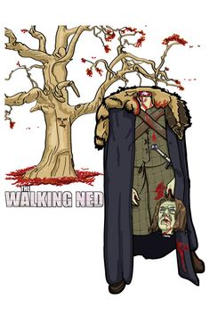 """Game of Thrones, The Walking Dead = """"The Walking Ned"""" My latest @Redbubble"""