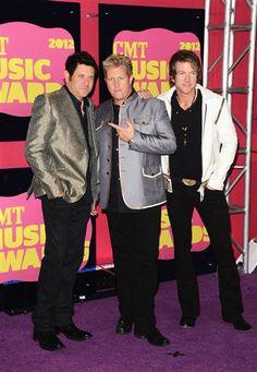 Jay DeMarcus, Gary LeVox and Joe Don Rooney of Rascal Flatts