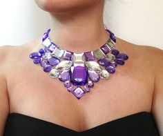 bib light purple necklace