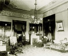 1890's home interiors | Woman sitting in chair Shatto home 1890's | Flickr - Photo Sharing!