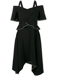 PROENZA SCHOULER off-shoulder asymmetric dress. #proenzaschouler #cloth #dress