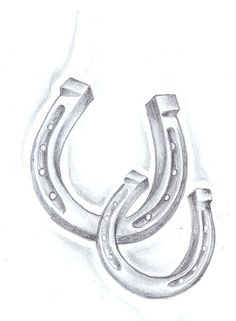Horseshoe Tattoo | Pin Double Horseshoe Tattoo Designs on Pinterest