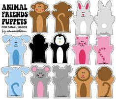 Animal Friends Puppets fabric by pixeldust on Spoonflower - custom fabric