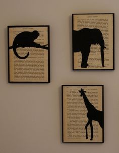 Silhouette pictures - cool way to display them.