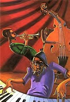 Jazz Trio print by Justin Bua. A BUA classic, this quintessential cast has been jammin' for years. Artist: Justin Bua Edition Type: Open Edition Media: Poster Size: x Unframed African American Artwork, African Art, Jazz Painting, Photo Lovers, Arte Hip Hop, Jazz Poster, Print Poster, Jazz Art, Jazz Music