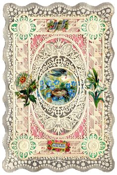Antique Valentines - Bunnies, Birds and Butterflies - The Graphics Fairy..PAPER OR WOOD