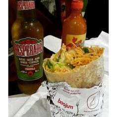 When in Belfast, do what the locals do and Boojum. @boojummex #belfast #boojum #burrito #belfastfood #desperados