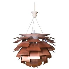 Scandinavian Modern Artichocke Chandelier | From a unique collection of antique and modern chandeliers and pendants at https://www.1stdibs.com/furniture/lighting/chandeliers-pendant-lights/