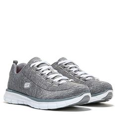 14724edff39c Skechers Synergy Spot On Memory Foam Wide Sneaker Grey Foams Sneakers