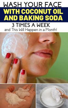Baking soda facial - Wash Your Face with Coconut Oil and Baking Soda 3 Times a Week and This Will Happen in a Month! Baking Soda Facial, Baking Soda Shampoo, Baking Soda Face Scrub, Honey Shampoo, Baking Soda Uses, Baking Soda For Face, Baking Soda Mask, Baby Shampoo, Oil Face Wash