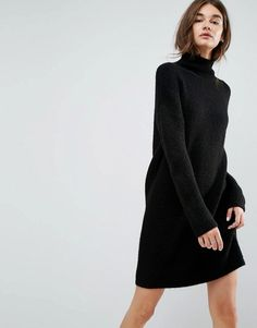 ASOS Knitted Sweater Dress in Texture Stitch