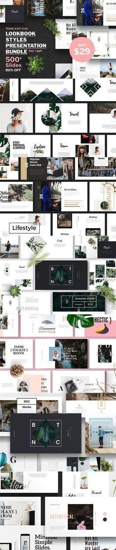 Lookbook Style Presentation Bundle. Presentation Templates