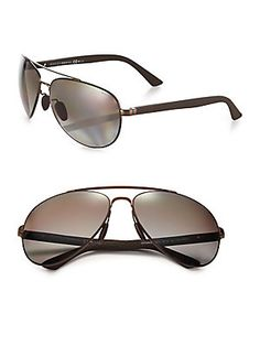 Gucci 63MM Metal Aviator Sunglasses