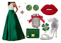 """Beautiful in green"" by mercija ❤ liked on Polyvore featuring Manolo Blahnik, Henri Bendel, Victoria's Secret and Color My Life"