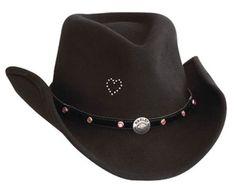 Harley Davidson® Womens Crushable Black Wool Cowboy Western Hat HD 177 New   eBay
