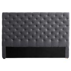 Tête de lit capitonnée en velours grise L 160 cm