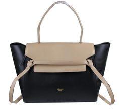 Celine Belt Bag Original Leather C3368 Apricot&Black - $339.00
