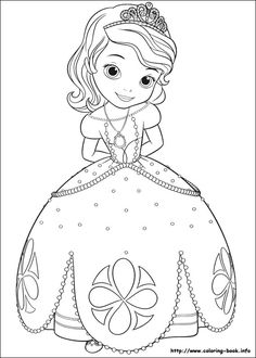 Princess Sofia the First Coloring Pages Online Coloring Pages, Animal Coloring Pages, Free Printable Coloring Pages, Coloring Pages For Kids, Coloring Books, Disney Princess Coloring Pages, Disney Princess Colors, Princess Sofia The First, Princess Sophia