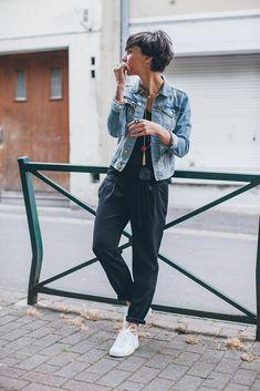 Sokak Modası: Kot Ceket Kombinleri