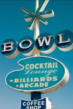 Bowling alleys and cocktail lounges - what a pair!