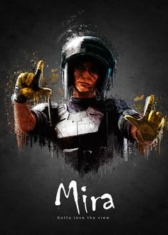 """Beautiful """"Operator Mira from Rainbow Six."""" metal poster created by TraXim Design. Our Displate metal prints will make your walls awesome. Rainbow Six Siege Poster, Rainbow Six Siege Memes, Rainbow 6 Seige, Tom Clancy's Rainbow Six, Siege Operators, Gaming Posters, Rainbow Wallpaper, Anime, Cool Pictures"""