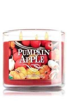 Pumpkin Apple 3-Wick Candle - Slatkin & Co. - Bath & Body Works