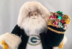 Green Bay Packers Santa by DianesHeirloomSantas on Etsy