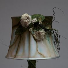 """Artistic hand dyed Lamp Shade """"WINTER'S EDGE"""" (Number 6159/6162)"""